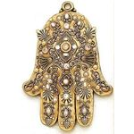 Michal Golan Freshwater Pearls and Swarovski Crystal Wall Hamsa MG-GL4
