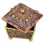 Michal Golan Colorful Swarovski Crystal Decorative Box MG-X254