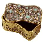 Michal Golan Cats Eye and Pearl Decorative Box MG-X62