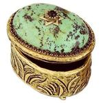 Michal Golan Aftrican Turquoise Decorative Box MG-X258