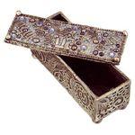 Michal Golan Swarovski Crystals, Pearl & Sodalite Decorative Box MG-X200