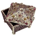 Michal Golan Abalone & Amethyst Decorative Box MG-X155
