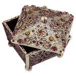 Michal Golan Abalone & Amethyst Decorative Box MG-X155