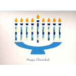 The Papercut Menorah - Box of 10 Cards 544-box