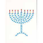 Menorah of Peace - Box of 10 Cards 546 -box