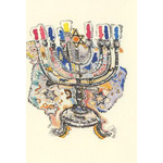 19th Century Polish Menorah - Box of 10 Cards 520-box