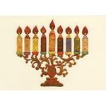 The Mosaic Menorah II - Box of 10 Cards 522-box
