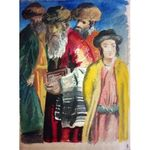 Rabbis by Adolphe Feder - Jewish Art Oil Painting Gallery AF315