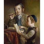 Elena Flerova - Lesson IV | Jewish Art Oil Painting Gallery ELE549337