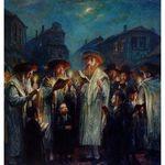 Elena Flerova - Blessing The New Moon | Jewish Art Oil Painting Gallery ELEA4928