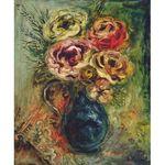Vase de Fleurs by Issachar Ber Ryback Jewish Art Oil Painting Gallery IBR442