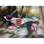 Rebbes Tisch | Jewish Art Oil Painting Gallery ISRJR89886