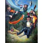 Kliezmers | Jewish Art Oil Painting Gallery ISRKL589862