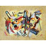 Music V | Jewish Art Oil Painting Gallery ISRM7661008
