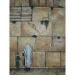 Menucha Yankelevitch- Kotel Father and son | Jewish Art Oil Painting Gallery MENKFS121494
