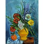 Blumenstillleben by Rudolf Levy - Jewish Art Oil Painting Gallery RL906