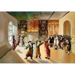 Steve Karro - Hasidic Dance II | Jewish Art Oil Painting Gallery SKHD22429