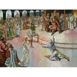 Steve Karro - King Solomon | Jewish Art Oil Painting Gallery SKKS2469
