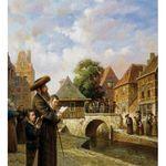 Elena Flerova -Tashlich I | Jewish Art Oil Painting Gallery TELEC4946