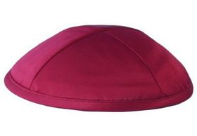 Red Deluxe Satin Kippah DR