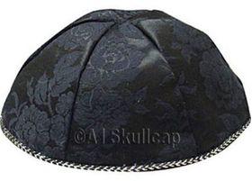 Black Brocade Kippah BCDBL