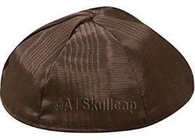 Brown Moire Kippah MRBR