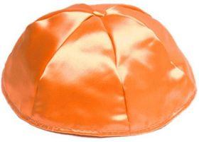 Orange Satin Kippah STO