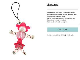 Beaded Doll Camera Charm - Pack of 20 M3410