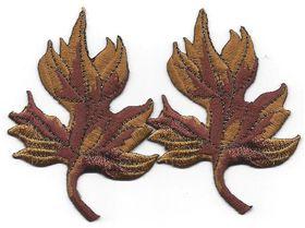 Appliques: Sukkot Leaves, gold & rust, set of 2 17A7299BS