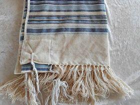 Prayer Shawl, Tallit For Bar Mitzvah, High Holidays, Woven Tallit, Jewish Prayer Shawl, Cotton Tallit, Tallit Set, Tallis, Bar Mitzvah Gift 651188904