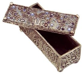 Michal Golan Swarovski Crystals, Pearl & Sodalite Decorative Box MG-X200