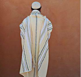 Jewish Prayer Shawl, Jewish Gift, Bar Mitzvah, Woven Tallit, Cotton Tallit, Bar Mitzvah Tallit Set, Tallit For Boy, White Prayer Shawl 625990583