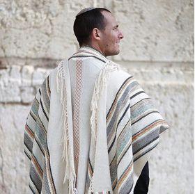 Jewish Gift, High Holidays, Jewish Prayer Shawl, Handwoven Tallit, Cotton Tallit, Wedding Tallit Set, Tallit For Man, White Prayer Shawl 93125231