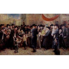 Elena Flerova - Coming of the new Torah II | Jewish Art Oil Painting Gallery CELEM49190
