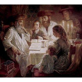 Elena Flerova - Pesach | Jewish Art Oil Painting Gallery ELE449364