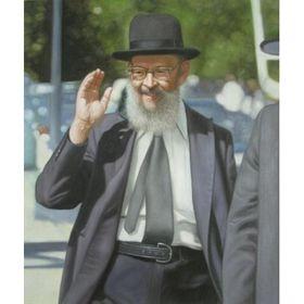 Rabbi Miller II   Jewish Art Oil Painting Gallery HPCRM23188
