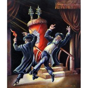Simchat Torah | Jewish Art Oil Painting Gallery ISRST89846