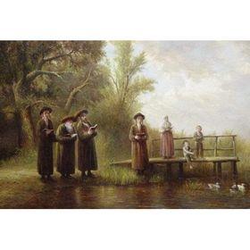 Elena Flerova -Tashlich III   Jewish Art Oil Painting Gallery TELE049427