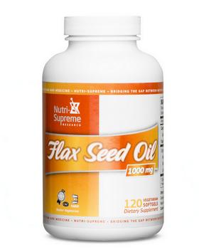 Nutri Supreme - Flax Seed Oil 2000 mg - 120 Softgels NS-6029-01