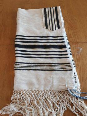Prayer Shawl, High Holidays, Jewish Prayer Shawl, Jewish Wedding, Cotton Tallit, Tallit For Man, Tallis, White Prayer Shawl, Tallit Set 623959973