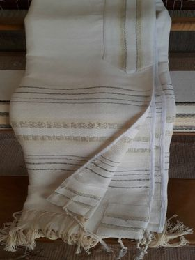Jewish Wedding, High Holidays, Woven Tallit, Jewish Prayer Shawl, Cotton Tallit, Tallit Set, Tallit For Man, Tallis, White Prayer Shawl 623010257