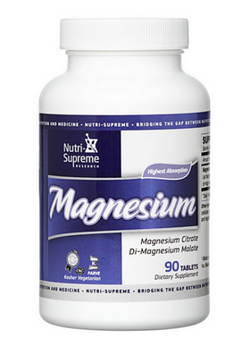 Nutri Supreme - Magnesium Citrate & Malate 200 mg - 180 Tablets NS-6037-02