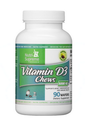 Nutri Supreme - Vitamin D3 Chews 5000 IU - Grape Flavor - 90 Wafers NS-6098-01