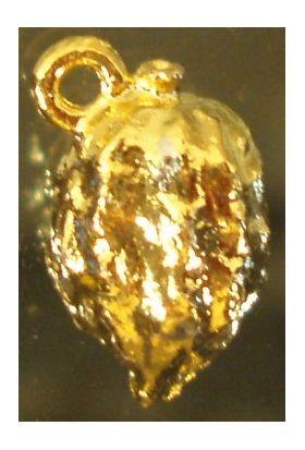 Sukkot  Charm: Etrog, gold 1321G