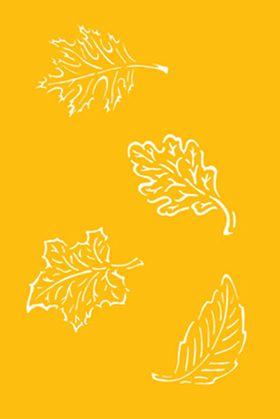 Jewish Baking Stencils: Sukkot Leaves, Set of 4 1808-C274