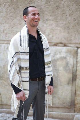 Tallit For Man, Jewish Gift, High Holidays, Jewish Prayer Shawl, Handwoven Tallit, Cotton Tallit, Wedding Tallit Set, White Prayer Shawl 93125459