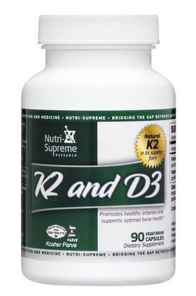 Nutri Supreme - Vitamin K2 and D3 - 90 Capsules NS-6034-01