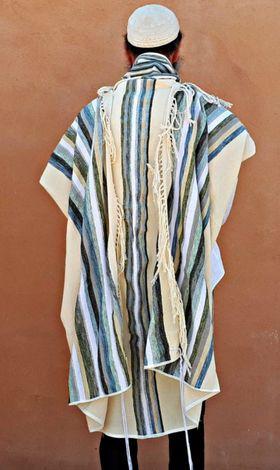Tallit For Man, Jewish Gift, High Holidays, Jewish Prayer Shawl, Handwoven Tallit, Cotton Tallit, Wedding Tallit Set, White Prayer Shawl 166077771
