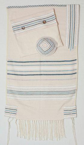 Jewish Gift, High Holidays, Woven Tallit, Jewish Prayer Shawl, Cotton Tallit, Wedding Tallit Set, Tallit For Man, Tallis, White Prayer Shawl 166072730