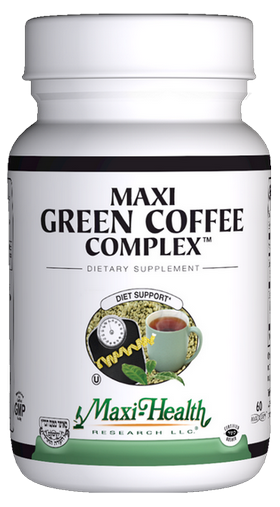 Maxi Health - Maxi Green Coffee Complex - Kosher Weight Management Formula - 60 Capsules MH-3161-01